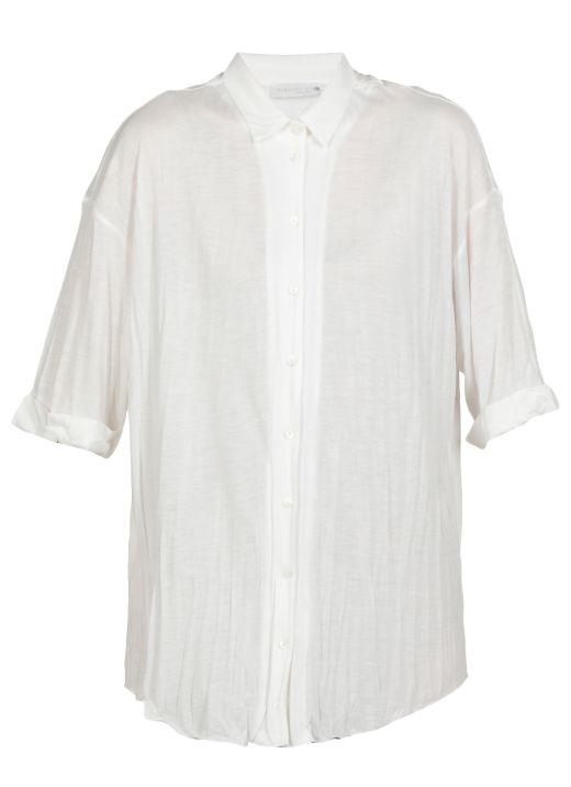 Viscose blend shirt