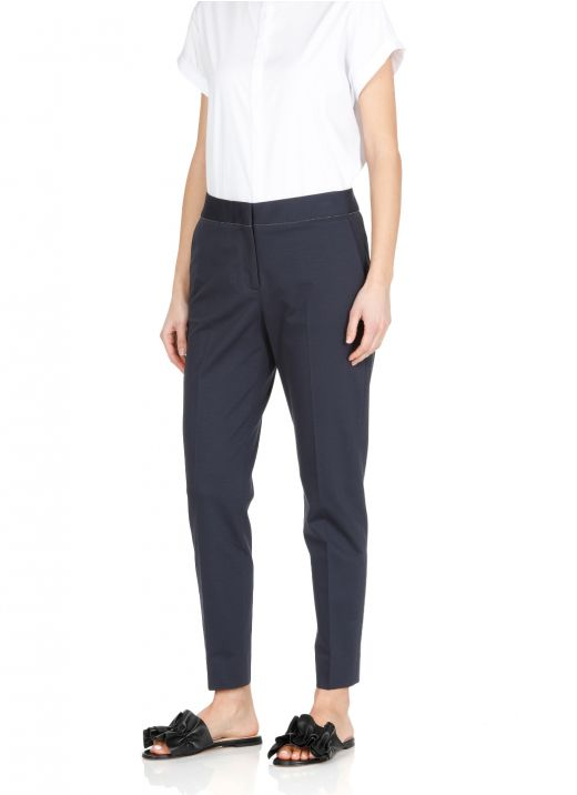 Cotton blend trousers