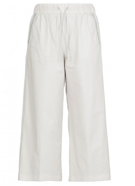 Fabric cropped trouser