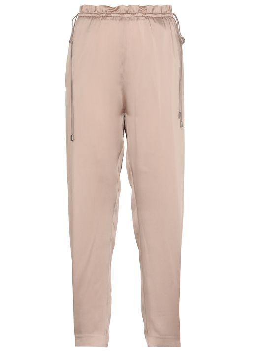 Fabric and silk pants