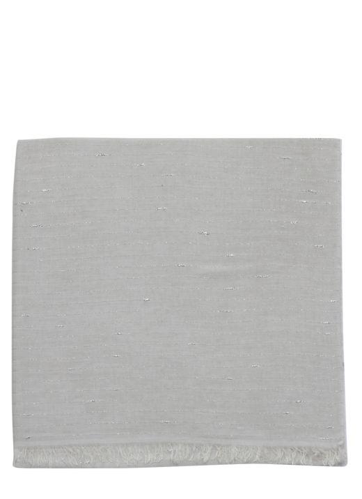 Sciarpa in misto cotone e seta
