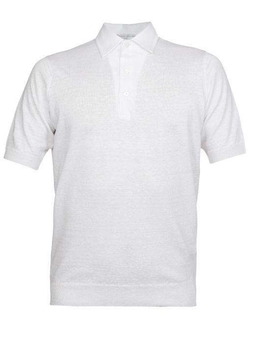 Linen blend polo shirt