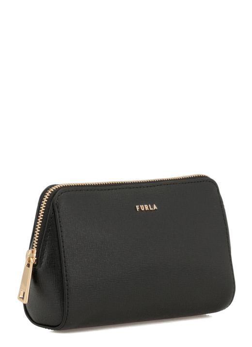 Saffiano leather beauty case