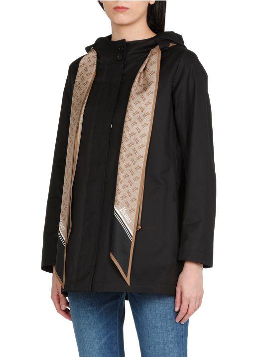 Giacca in cotone con foulard monogrammato