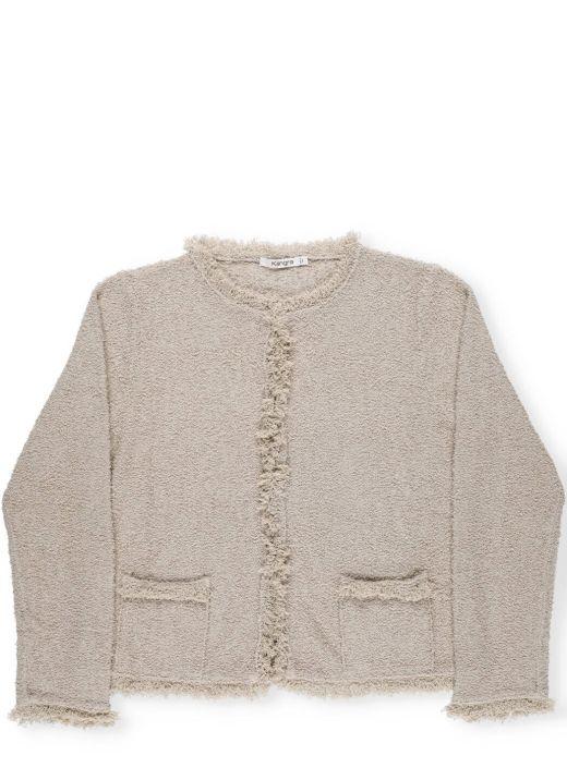 Bouclé cotton sweater