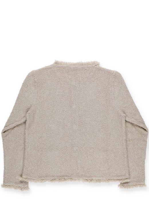 Boucl&#233 cotton sweater