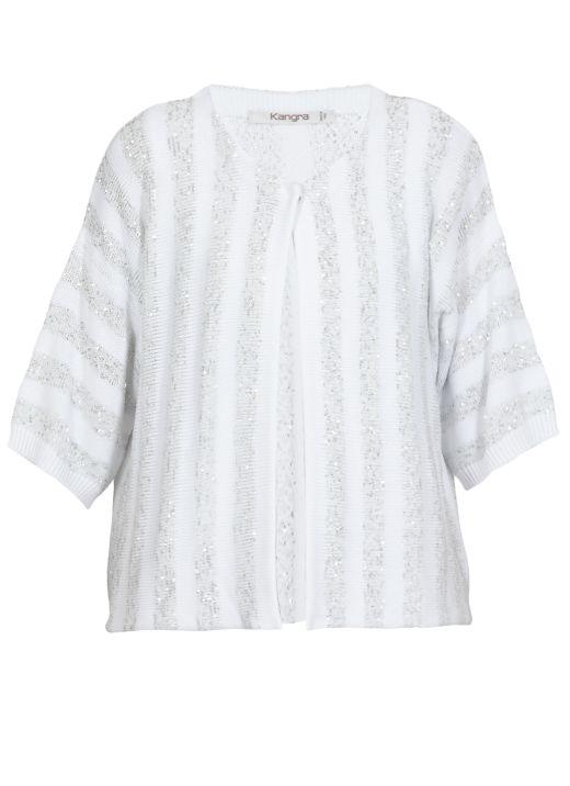 Cotton blend koreana cardigan