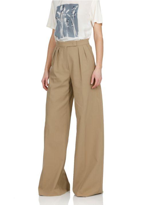 Cotton blend trouser