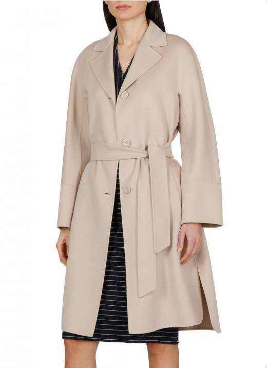 Virgin wool, cashmere and silk coat