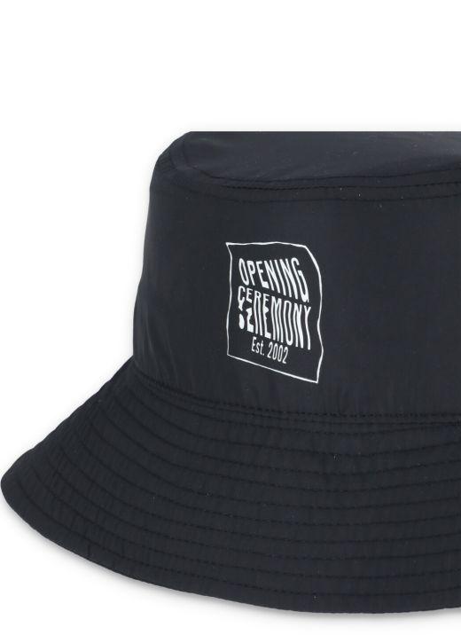 Warped logo bucket hat