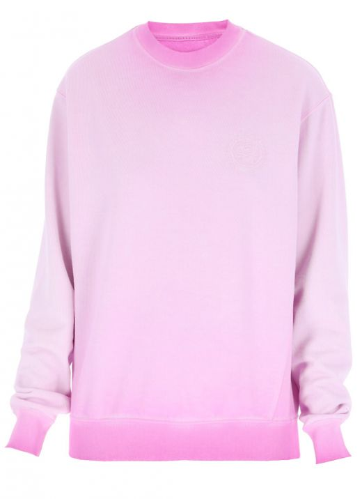 Sweatshirt with embroidered rose