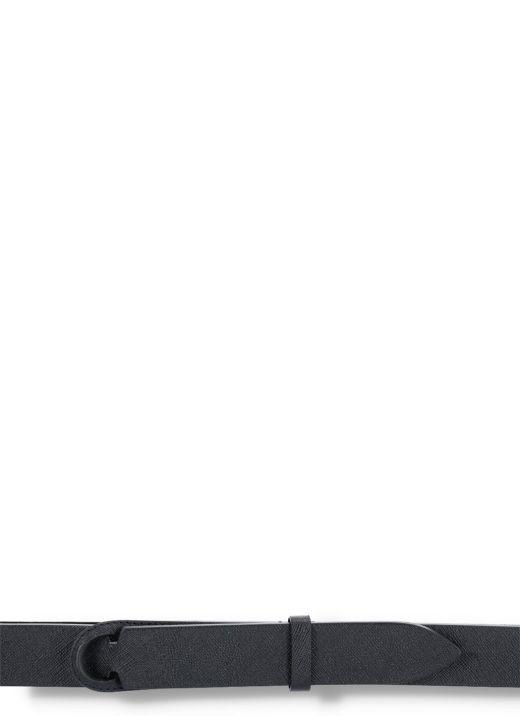 Cintura Nobuckle in pelle saffiano