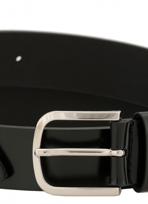 Smooth leather Bright belt