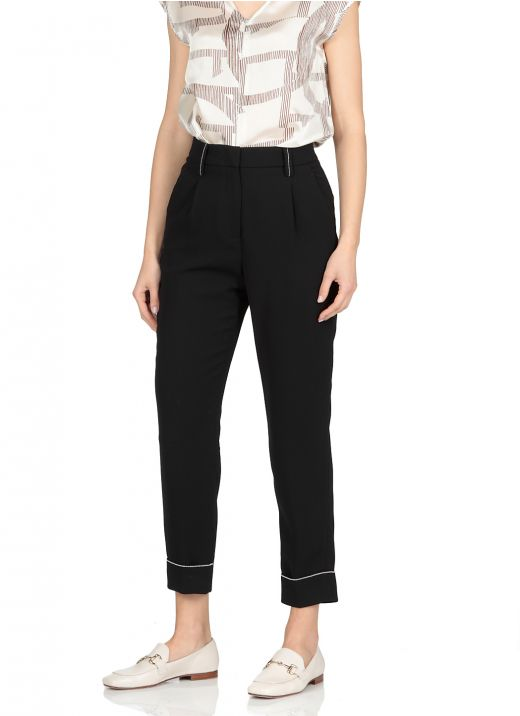 Tailored trousers with metallic highlight details