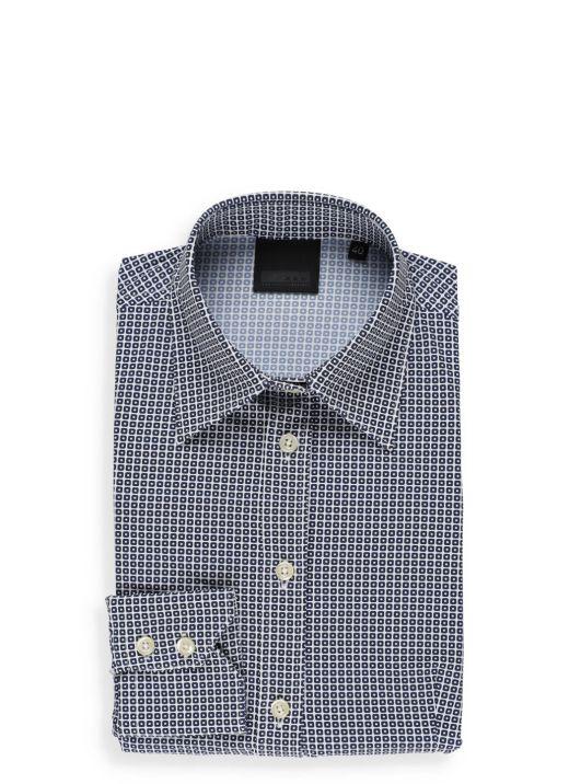 Stretch small check shirt