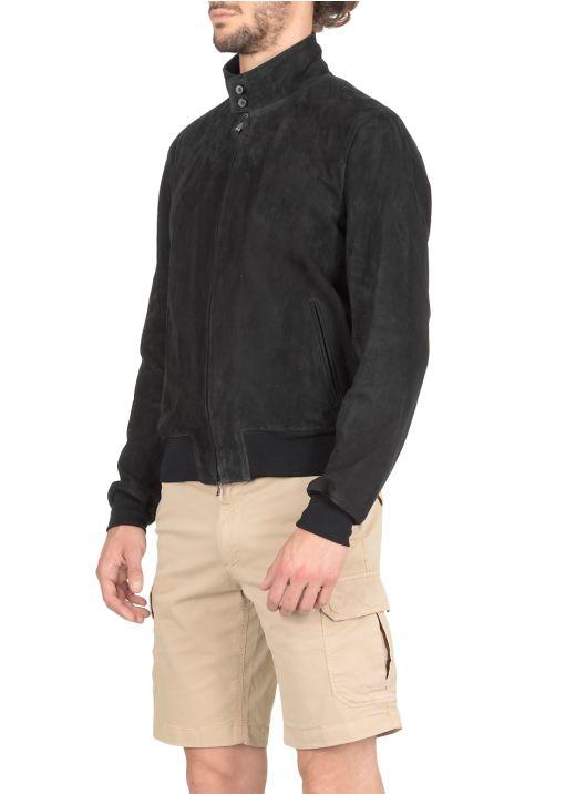 Suede studded jacket