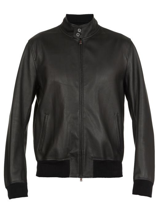 Studded smooth leather jacket