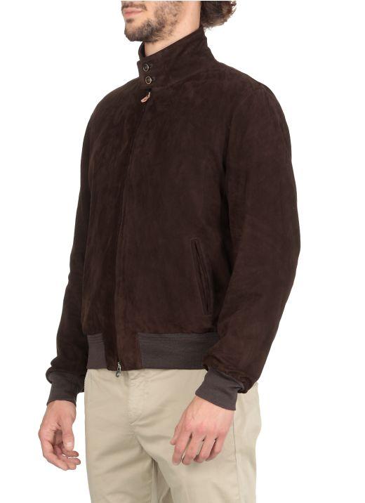 Garment suede jacket