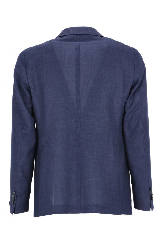 Virgin wool, silk and linen jacket