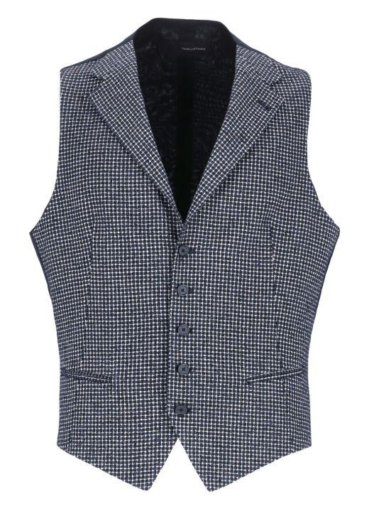 Check fabric vest