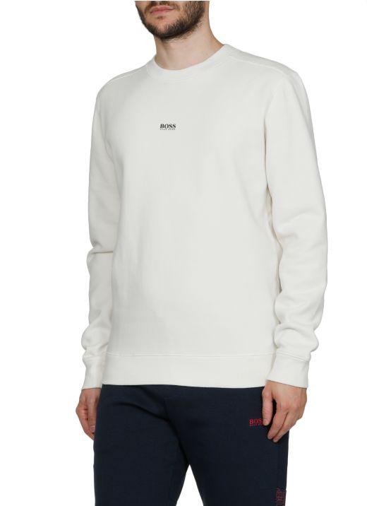 Plushy cotton blend sweater