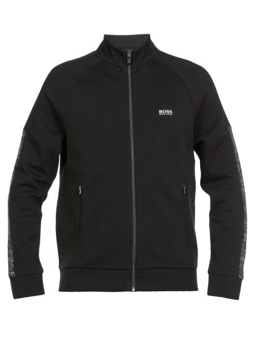 Cotton blend sweatshirt with logo