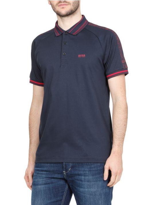 Stretch cotton polo shirt