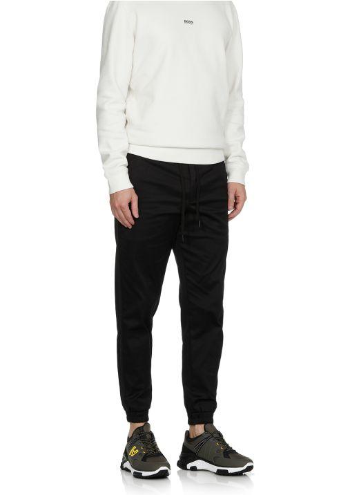 Stretch cotton blend pants