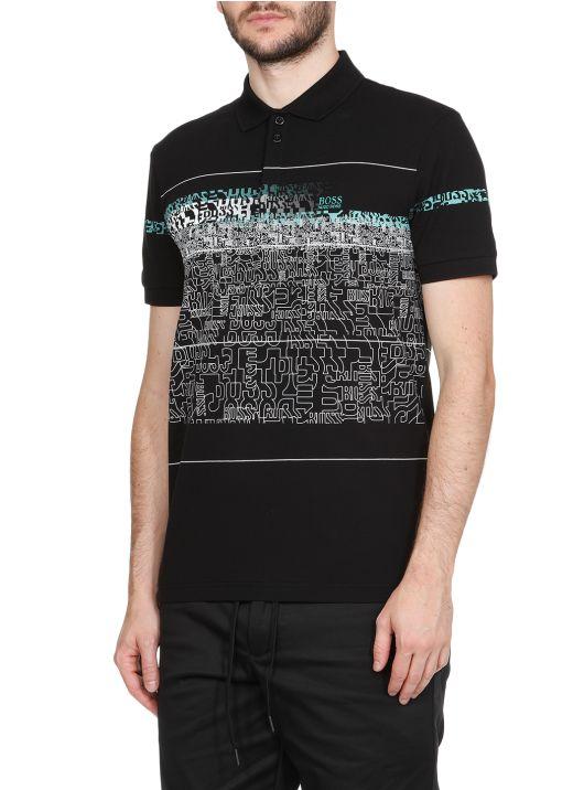 Piqu&#233 cotton polo shirt